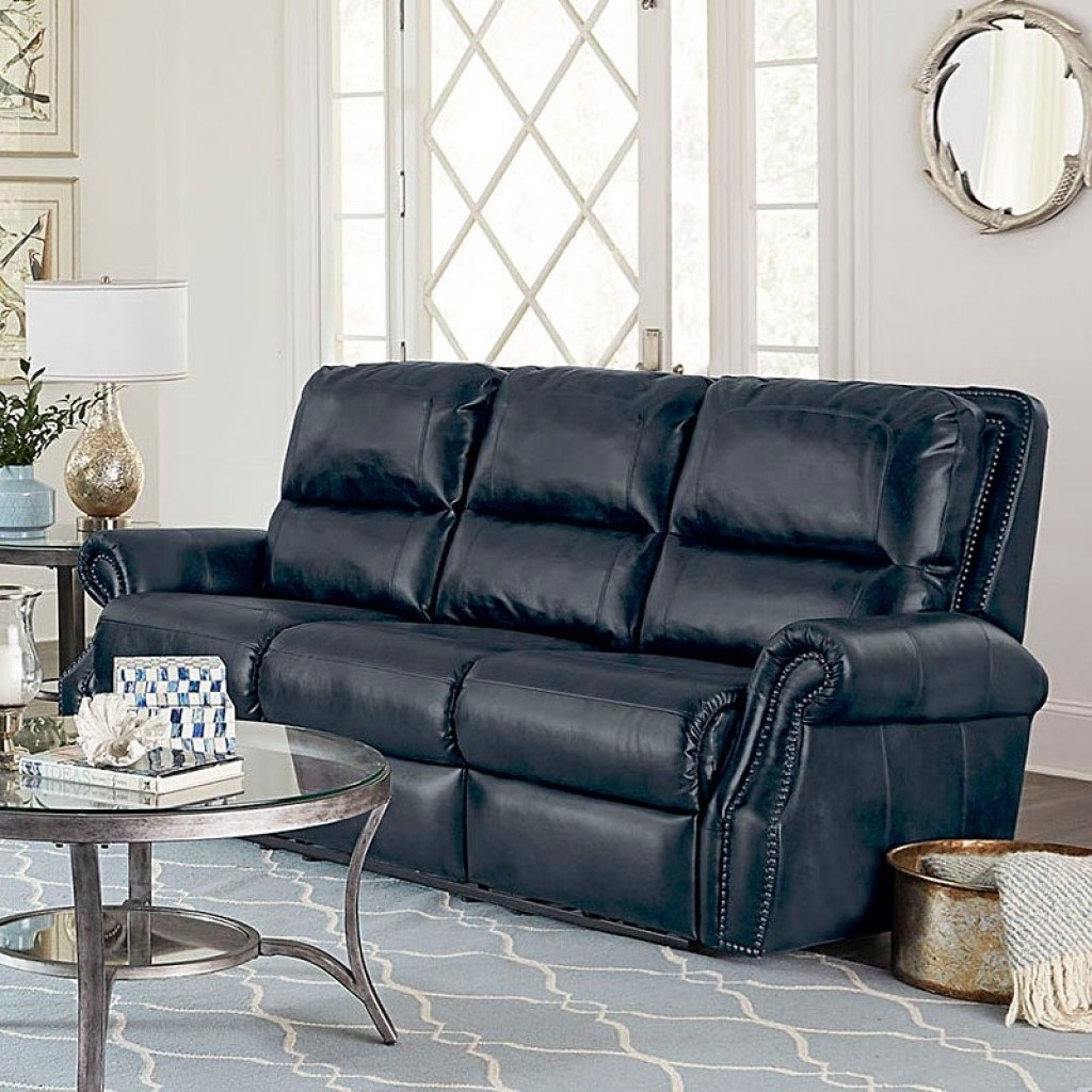 Kingston Reclining Living Room Set (Navy) Standard Furniture intended for Kingston Sectional Sofas (Image 3 of 10)