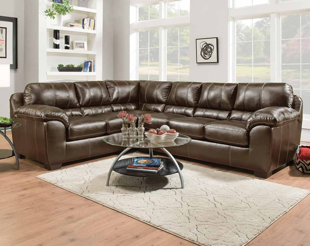 Kiser Cappuccino 2 Pc. Sectional Sofa | American Freight With Little Rock Ar Sectional Sofas (Photo 10 of 10)