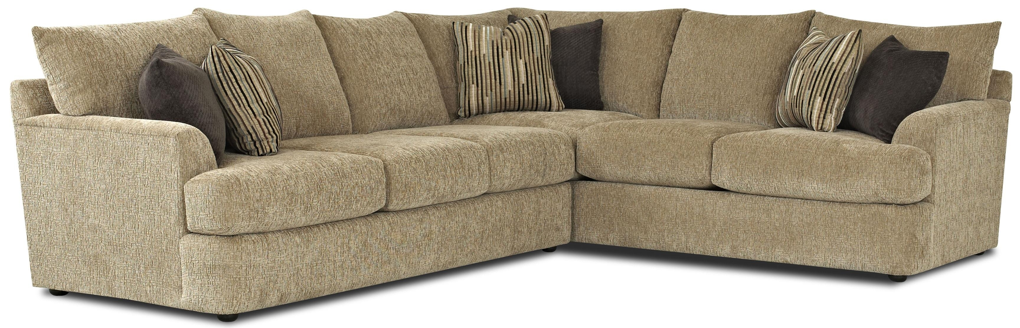 Klaussner Findley Contemporary L-Shaped Sectional Sofa | Fmg - Local pertaining to L Shaped Sectional Sofas (Image 4 of 10)