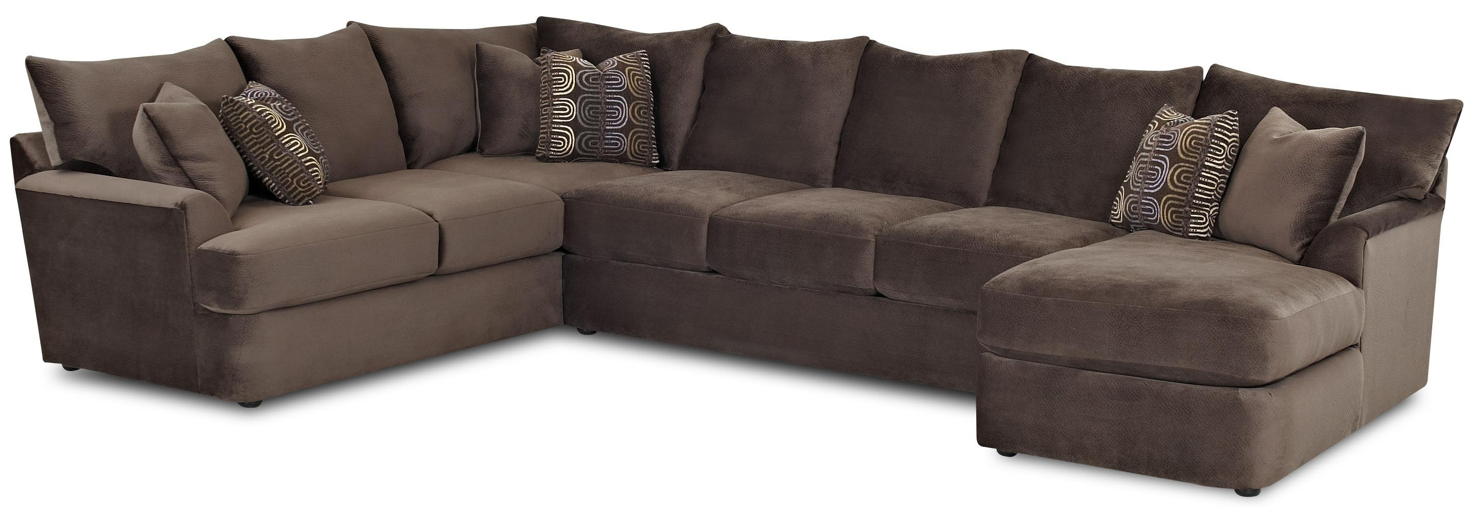 Klaussner Findley L Shaped Sectional Sofa With Right Chaise   Ahfa Throughout L Shaped Sectional Sofas (Photo 4 of 10)