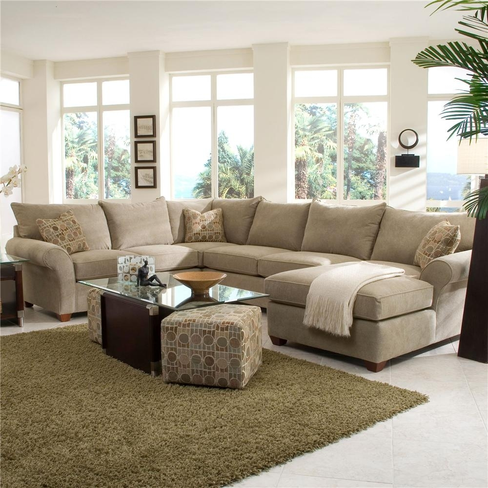 Klaussner Fletcher Spacious Sectional With Chaise Lounge | Wayside Pertaining To Beige Sectional Sofas (Photo 5 of 15)