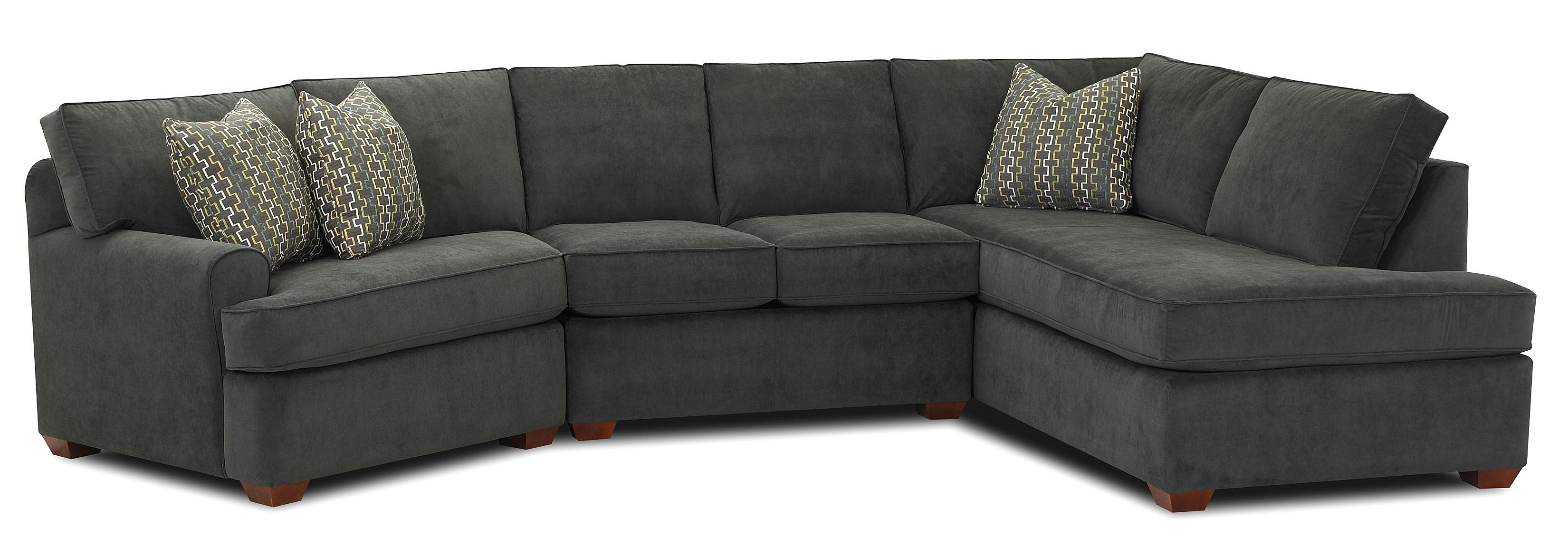 Klaussner Hybrid Sectional Sofa With Right Facing Sofa Chaise | Fmg With Regard To Sectional Sofas With Chaise (View 8 of 15)