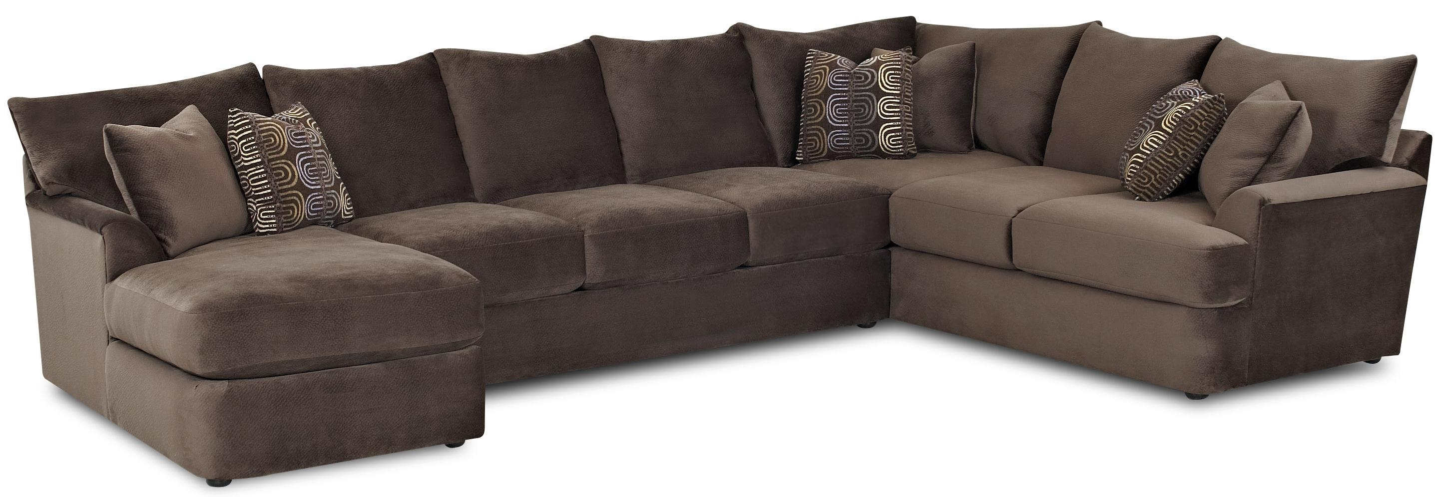 L Shaped Sectional Sofa With Left Chaiseklaussner Wolf And inside L Shaped Sectional Sofas (Image 7 of 10)