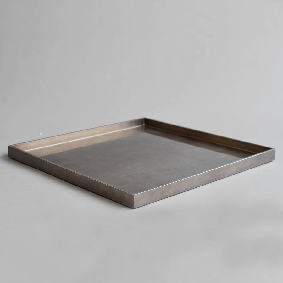 Lacquer Xl Square Ottoman Tray | Square Ottoman, Ottomans And Trays In Ottomans With Tray (View 6 of 15)