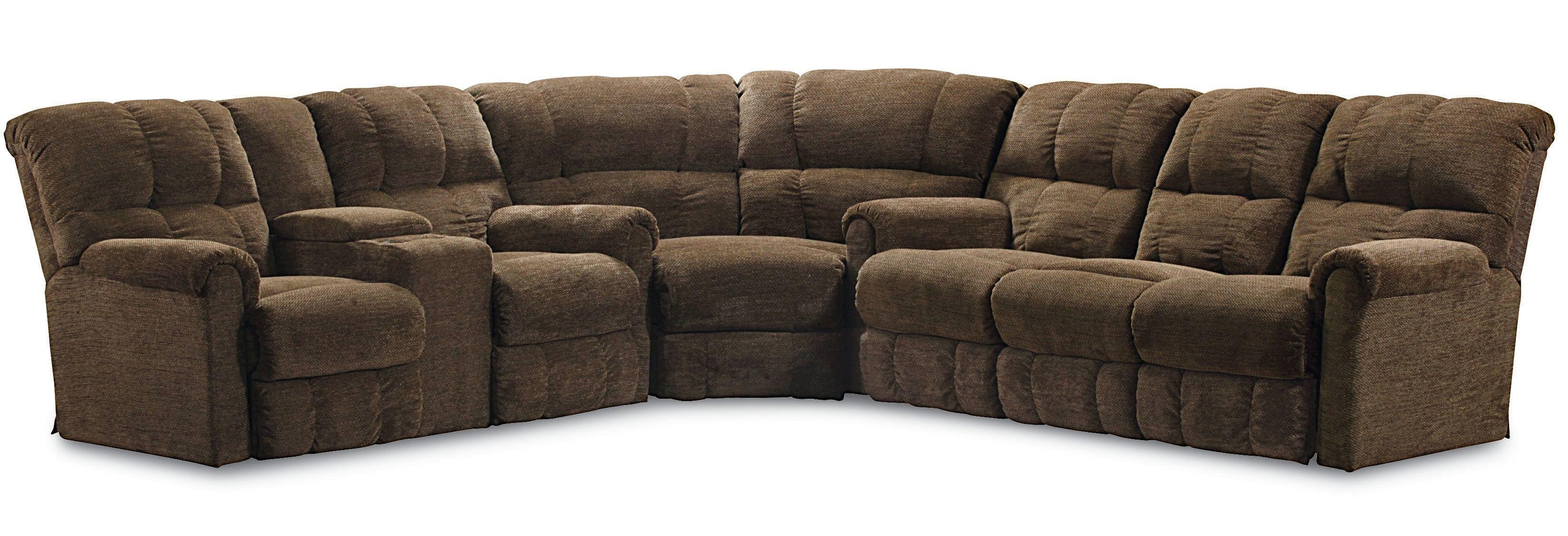 Lane Griffin Casual Three Piece Reclining Sectional Sofa With Four With Sectional Sofas At Birmingham Al (View 5 of 15)