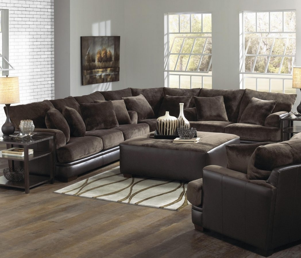 Large U Shaped Sectional Sofas Hotelsbacau Com Sofa Plush Oversized in Large U Shaped Sectionals (Image 7 of 15)
