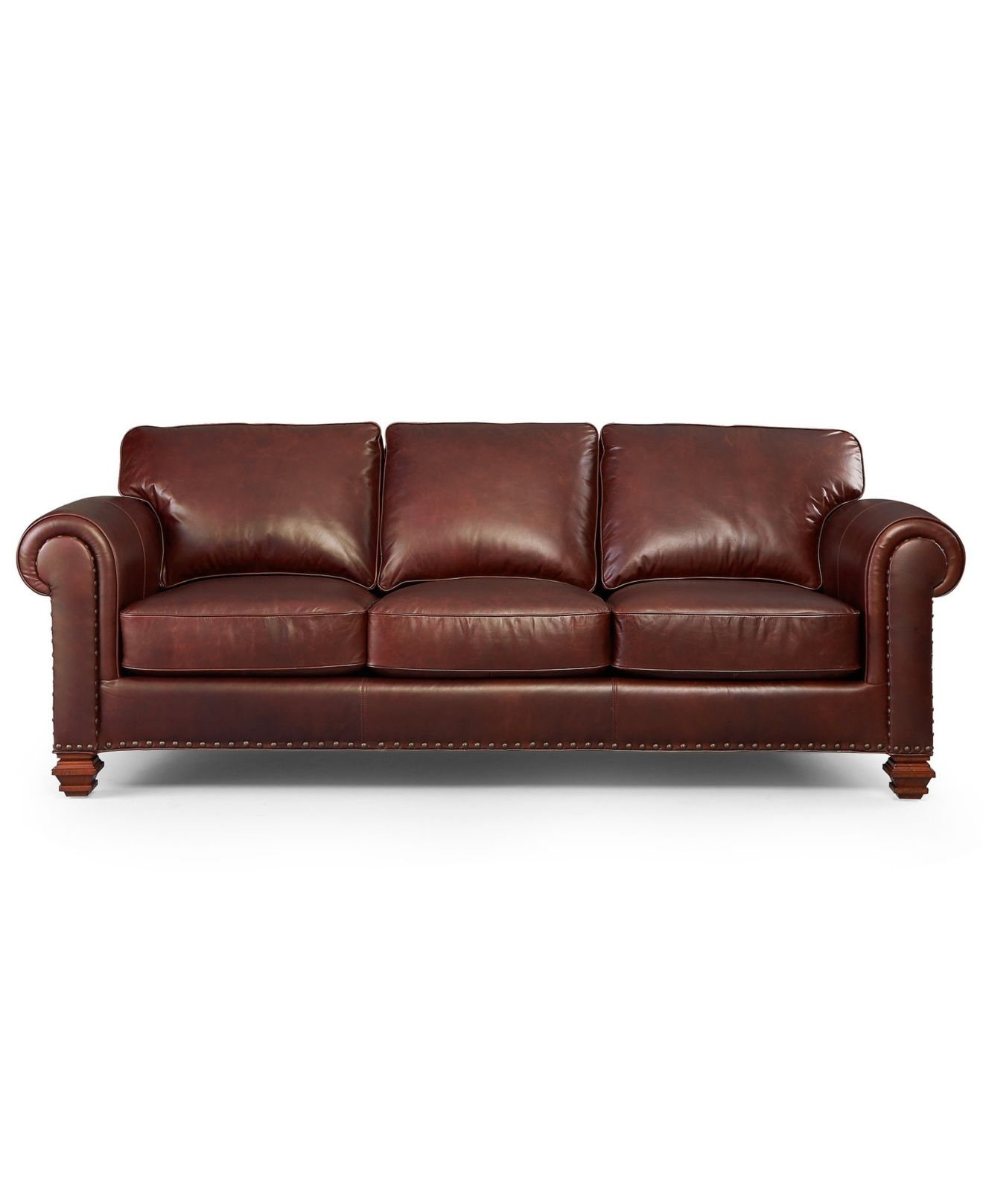 Lauren Ralph Lauren Leather Sofa, Stanmore - Living Room Furniture throughout Macys Leather Sofas (Image 2 of 10)