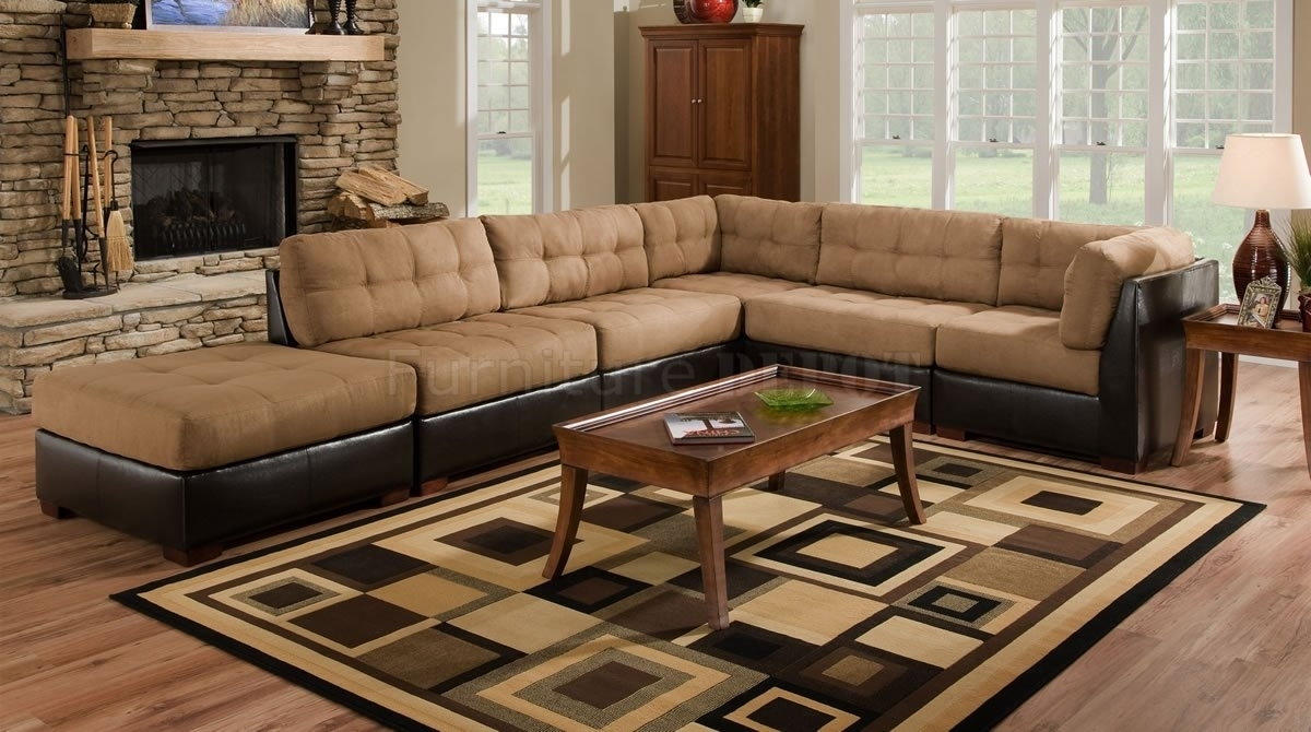 Leather And Cloth Sectional Sofas • Leather Sofa Inside Leather And Cloth Sofas (View 6 of 10)