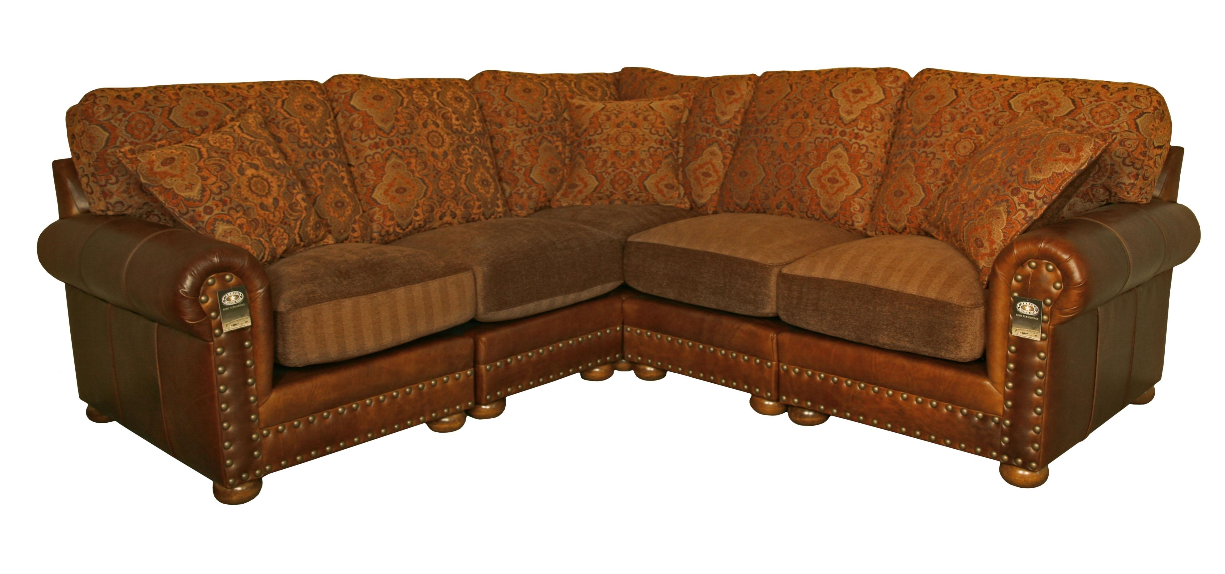 Leather And Cloth Sectional Sofas – Radiovannes With Leather And Cloth Sofas (View 9 of 10)