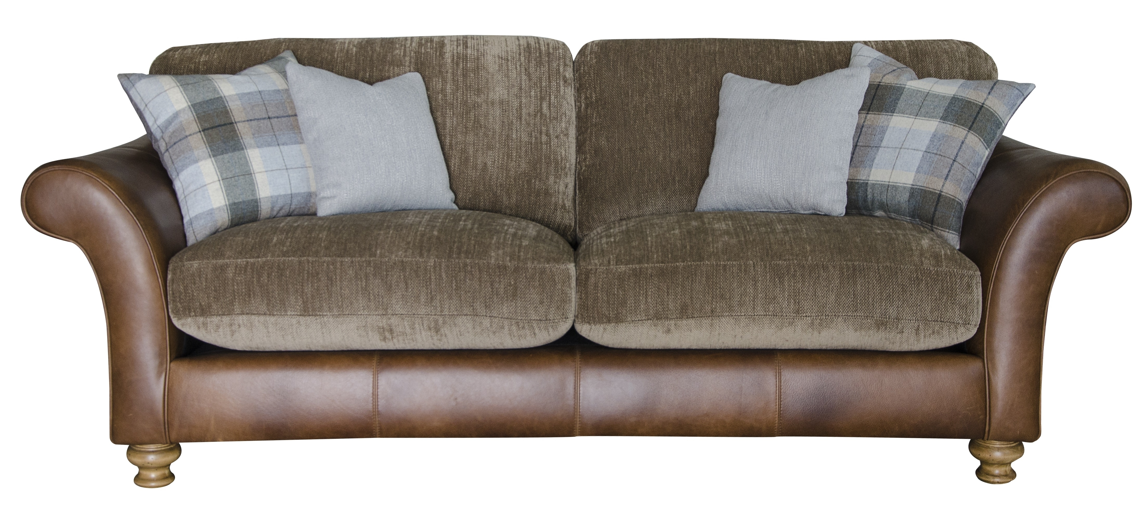 Leather And Fabric Combination Sofas Sofa Regarding Idea 4 With Regard To Leather And Cloth Sofas (View 5 of 10)