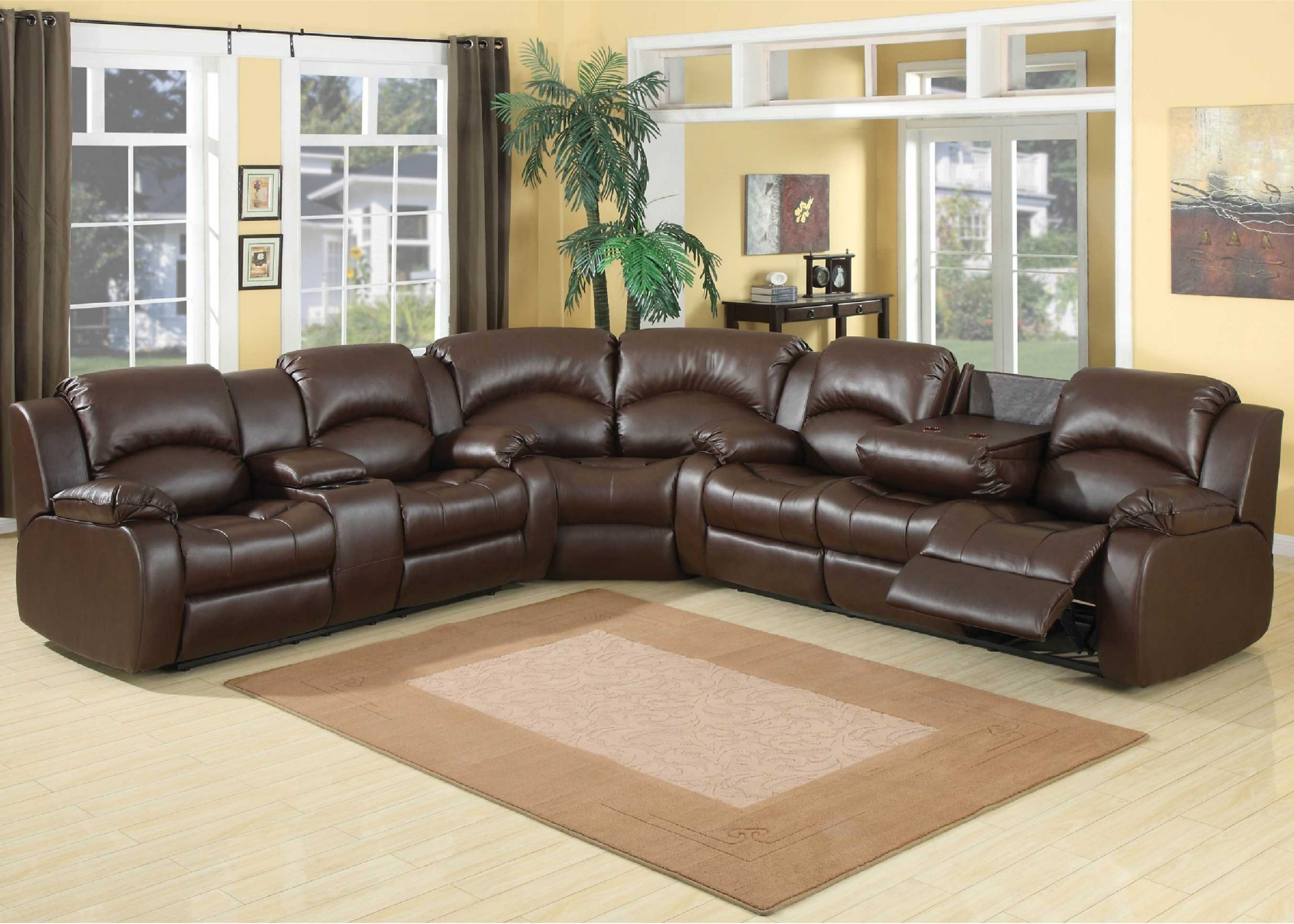 Leather Sectional Couch With Recliners | Things Mag | Sofa | Chair Pertaining To Sectional Sofas With Recliners (View 8 of 15)