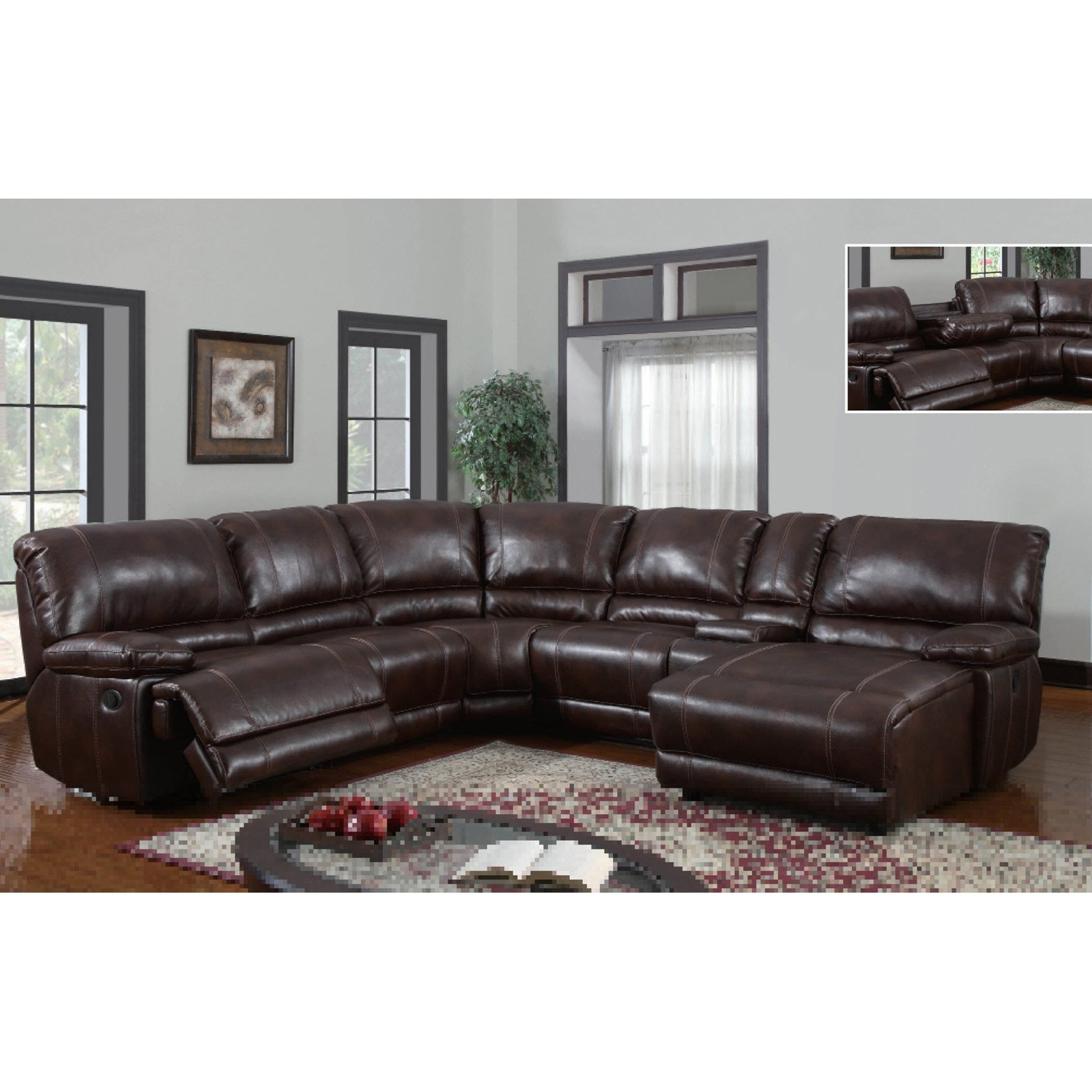 Leather Sectional Sofa With Power Recliner 11 With Leather Sectional intended for Sectional Sofas With Power Recliners (Image 2 of 10)