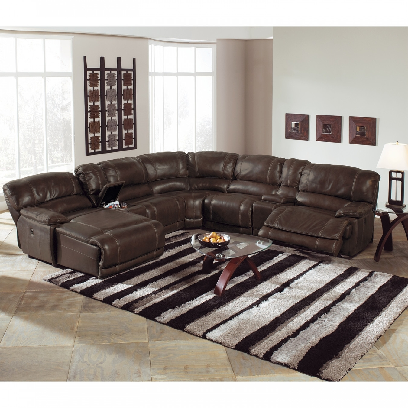 Leather Sectional Sofa With Power Recliner 94 With Leather | Home throughout Sectional Sofas With Power Recliners (Image 4 of 10)