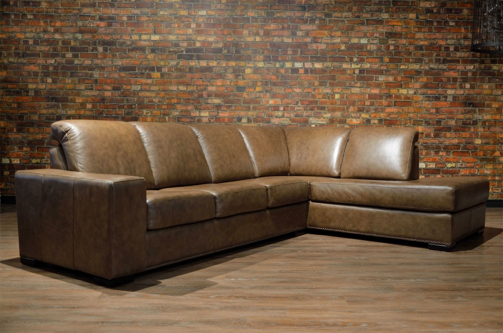 Leather Sofa & Sectional – Choose Color, Leather & Size | Boss Throughout Ontario Canada Sectional Sofas (View 6 of 10)