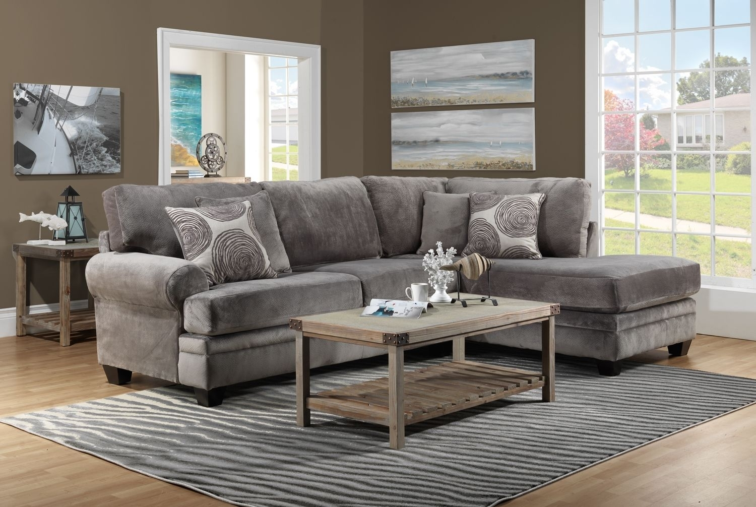 Living Room Furniture-The Lana Collection-Lana 2 Pc. Sectional within Leons Sectional Sofas (Image 8 of 10)