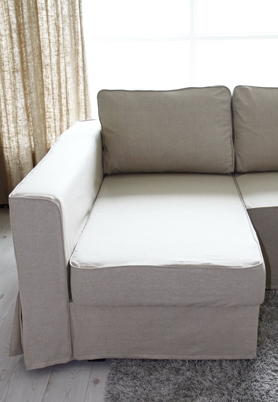 Loose Fit Linen Manstad Sofa Slipcovers Now Available | Sofa with Manstad Sofas (Image 6 of 10)
