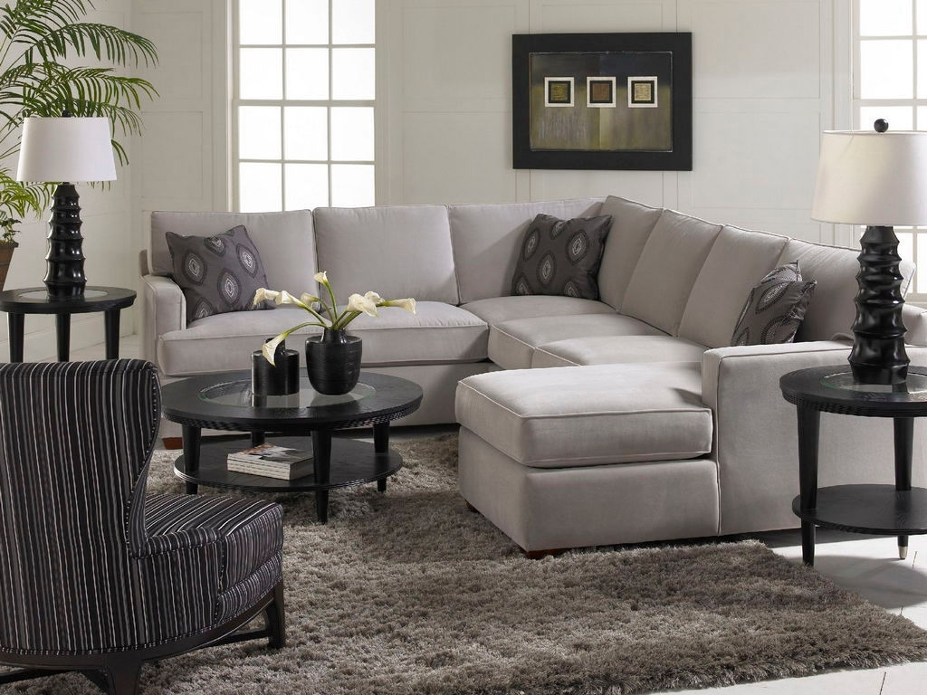 Love The Accent Pillows And The Simplicity Of The Gray Living Room Throughout Sectional Sofas In North Carolina (View 8 of 10)
