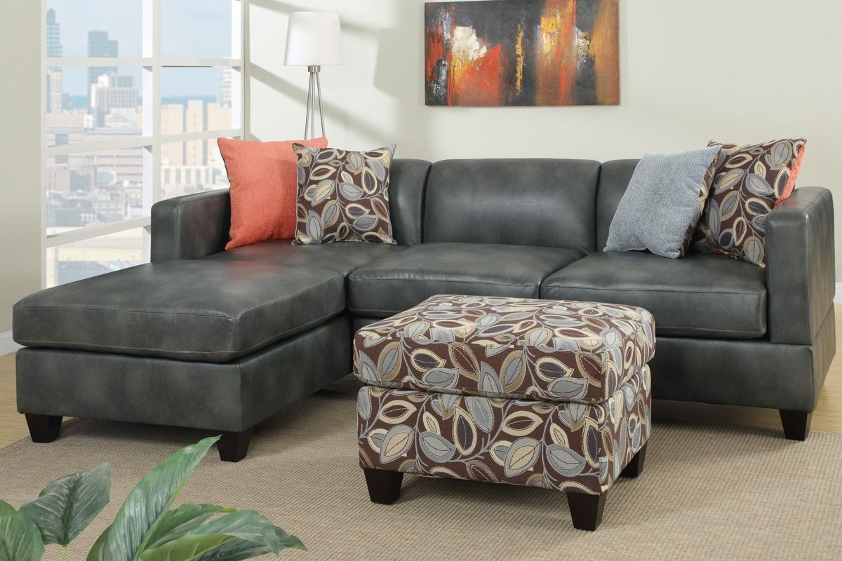 Low Profile Black Faux Leather Sectional Sofa W Right Arm Chaise pertaining to Red Faux Leather Sectionals (Image 6 of 15)