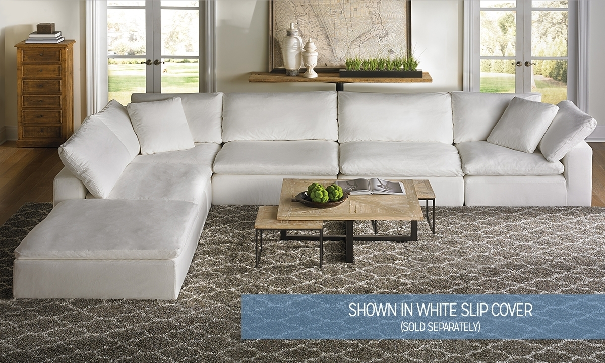 Luxe Modular Slipcover Sectional | Haynes Furniture, Virginia's pertaining to Modular Sectional Sofas (Image 8 of 10)