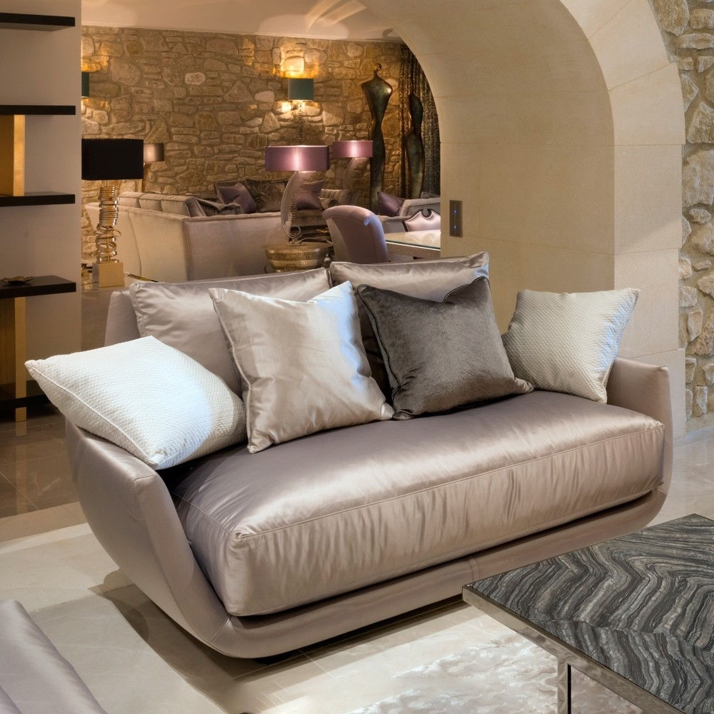 Luxury Modern Two Seater Sofa | Juliettes Interiors for Luxury Sofas (Image 5 of 10)