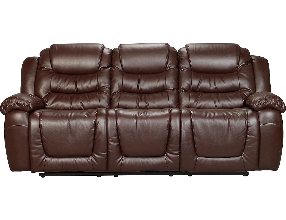Maddux Bonded Leather Reclining Sofa – Brown Twin Set | Online In The Brick Leather Sofas (View 8 of 10)