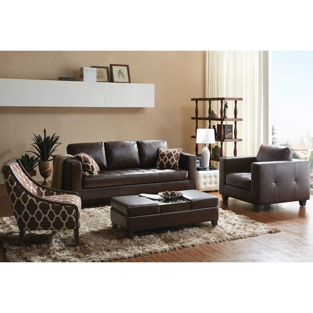 Madison Living Room - Sofa, Arm Chair, Accent Chair & Ottoman in Loveseats With Ottoman (Image 9 of 15)