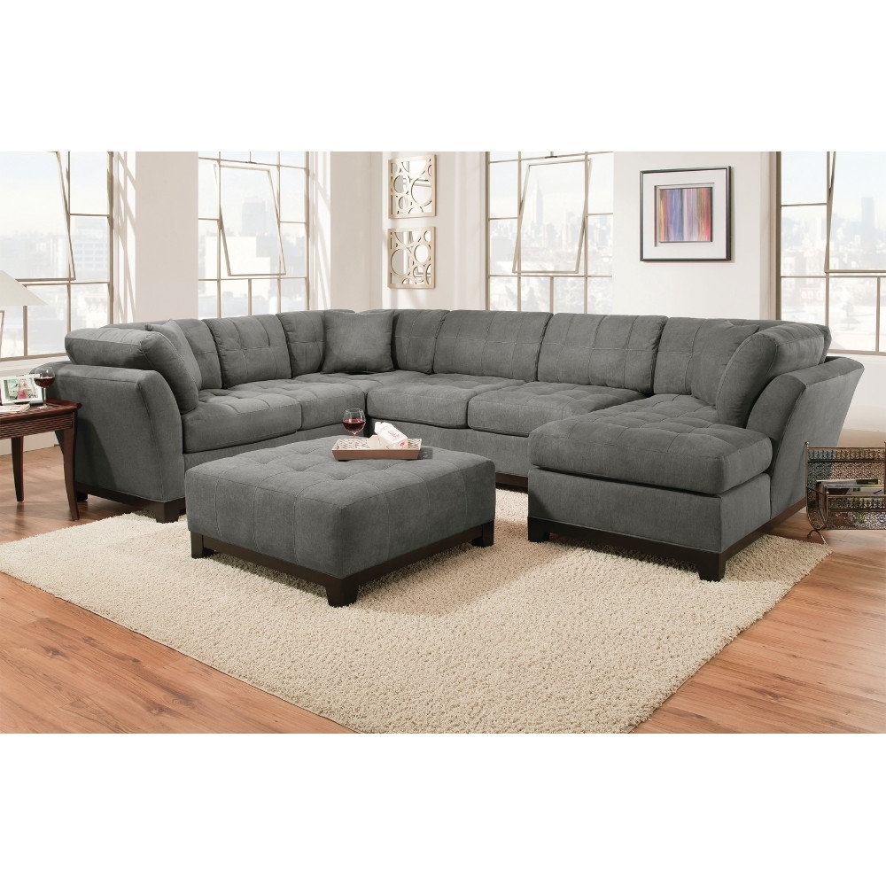 Manhattan Sectional - Sofa, Loveseat & Rsf Chaise - Slate with regard to El Paso Texas Sectional Sofas (Image 6 of 10)