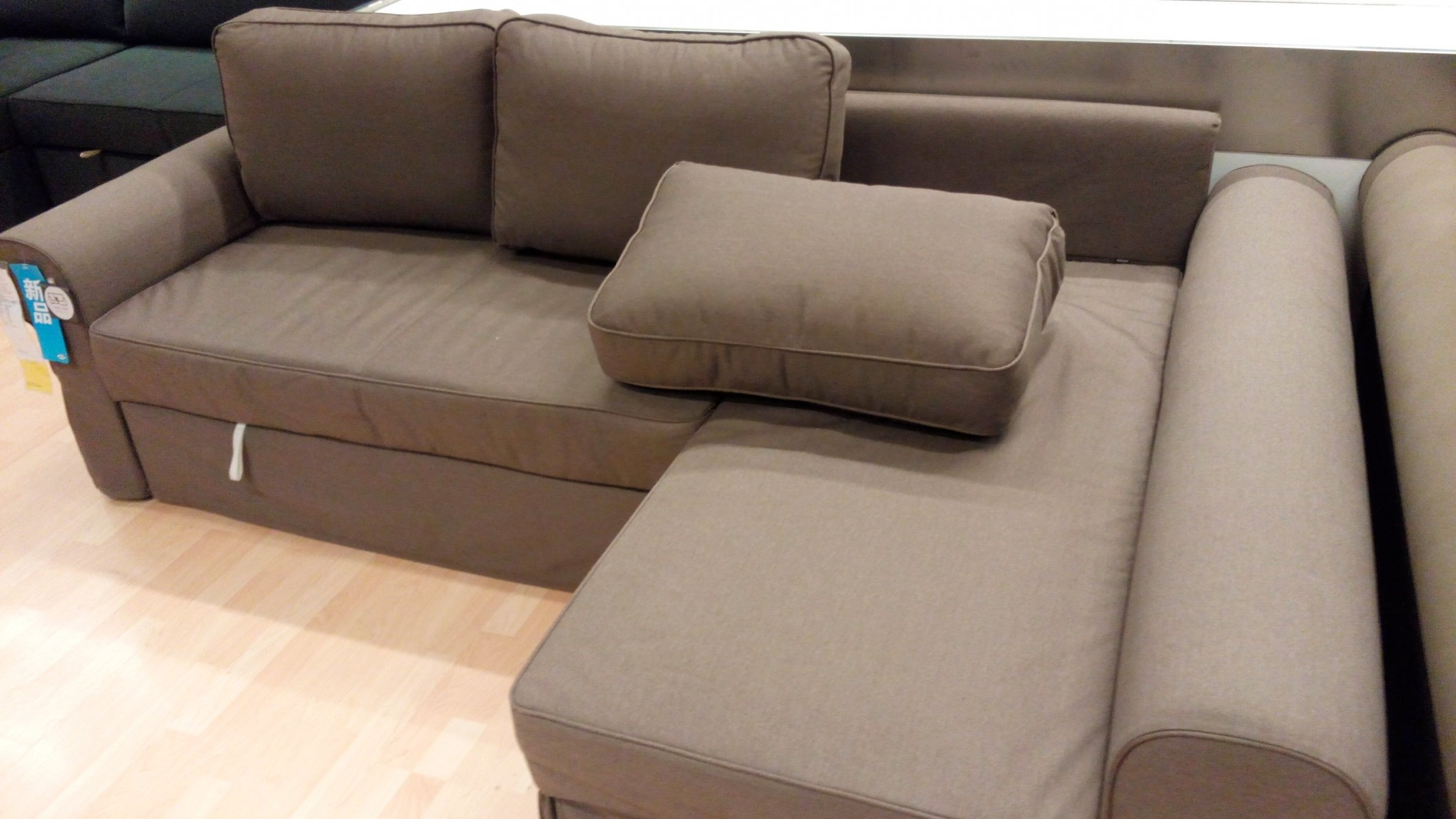 Manstad Sofa Bed Dimensions #2 Ikea Backabro Sofa Bed With Chaise throughout Manstad Sofas (Image 7 of 10)