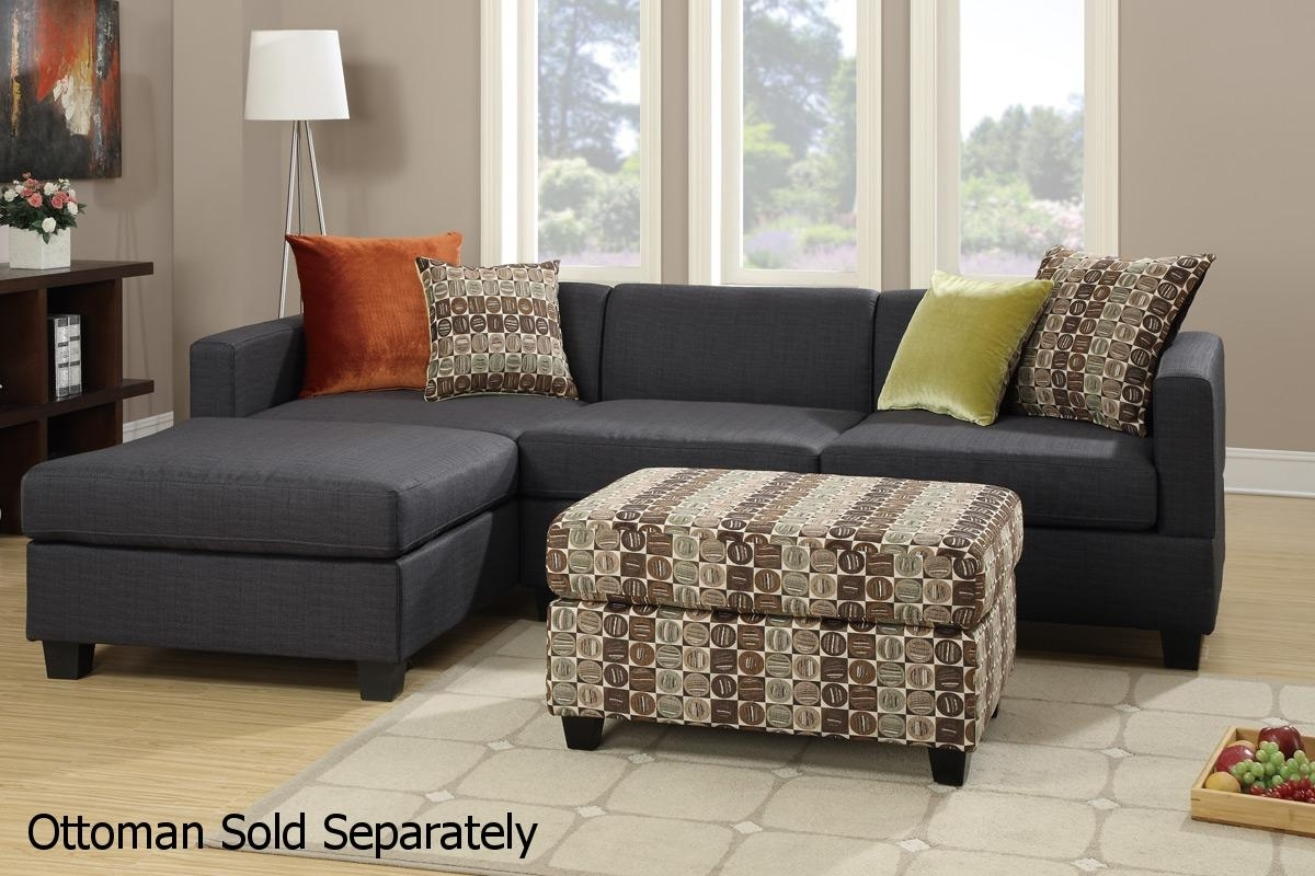 Maribel Black Fabric Sectional Sofa – Steal A Sofa Furniture Outlet Regarding Los Angeles Sectional Sofas (View 9 of 10)