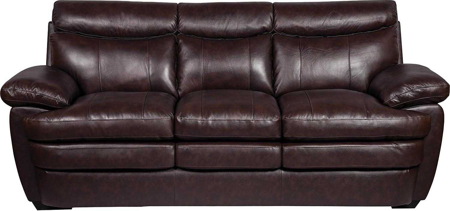 Marty Genuine Leather Sofa – Brown | Genuine Leather Sofa, Leather With The Brick Leather Sofas (View 3 of 10)
