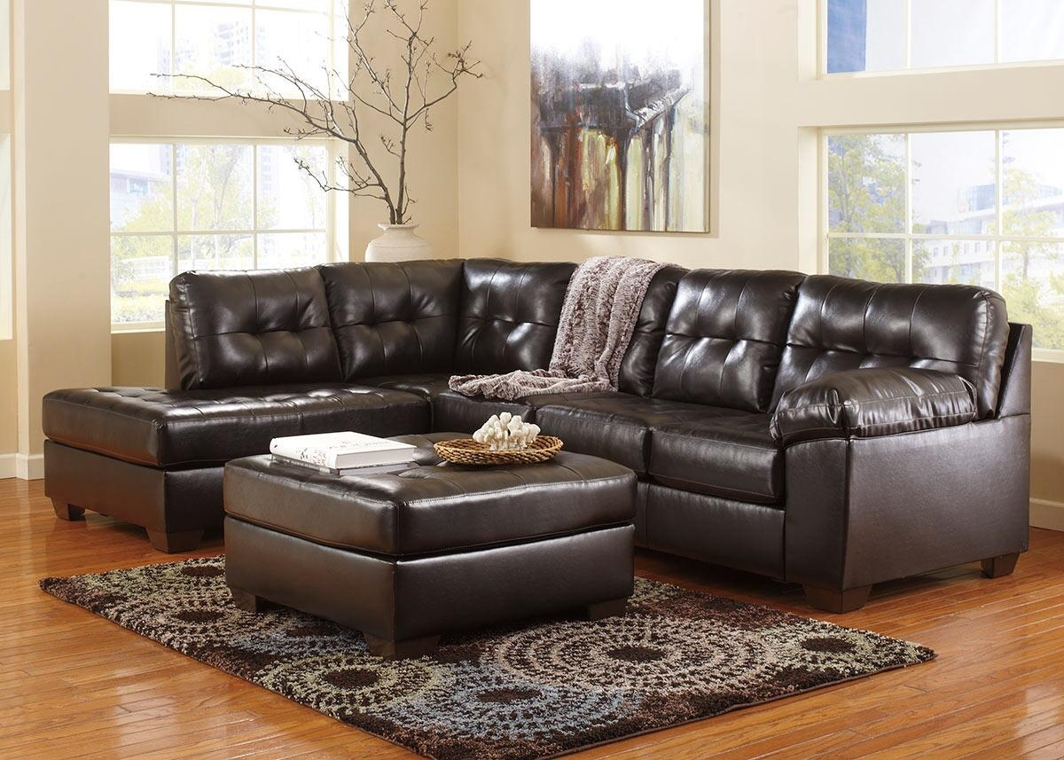 Maxim Chocolate 3 Pc. Sectional (Reverse) With Cocktail Ottoman within Michigan Sectional Sofas (Image 3 of 10)
