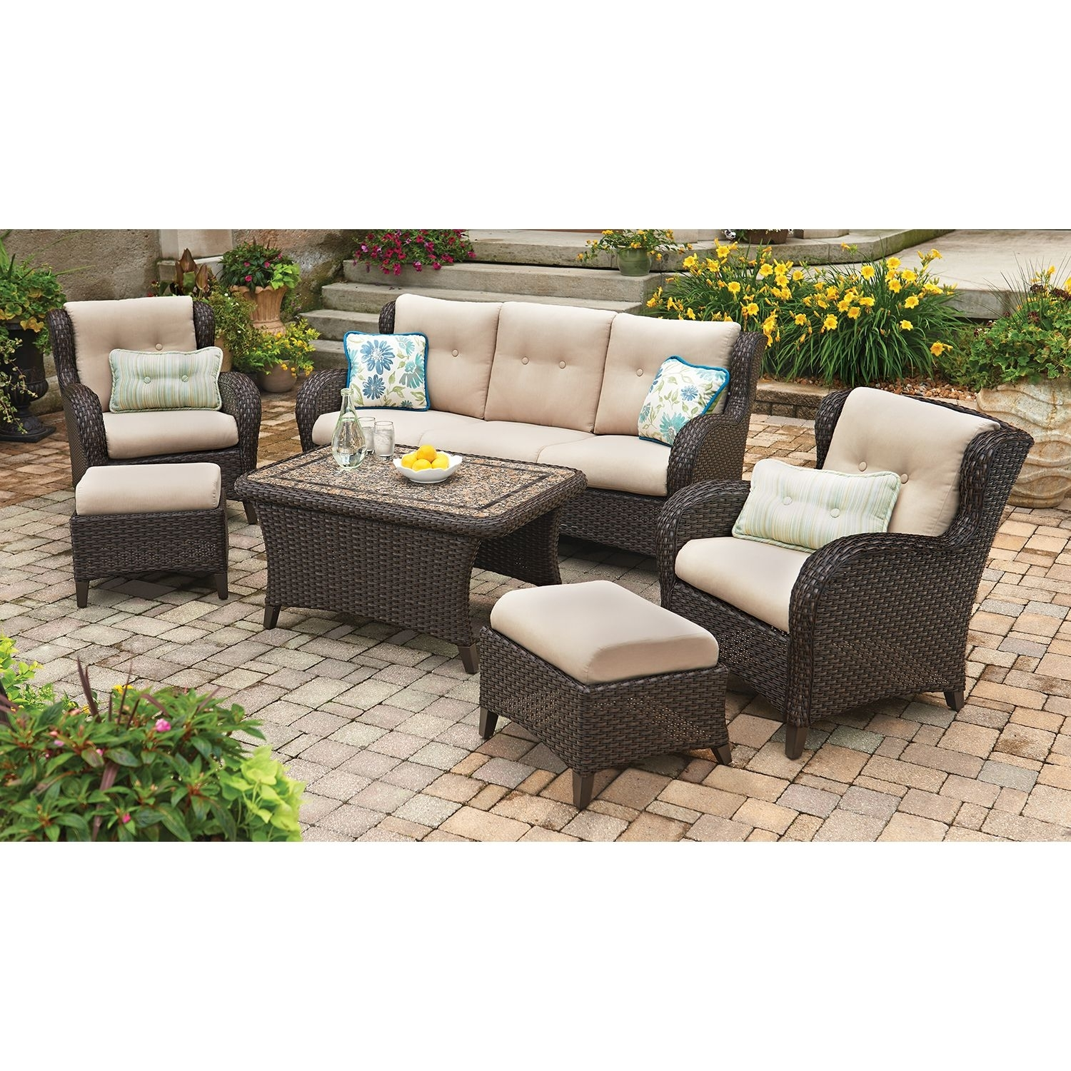 Member's Mark® Heritage 6-Piece Deep Seating Set With Premium inside Sectional Sofas At Sam's Club (Image 8 of 15)