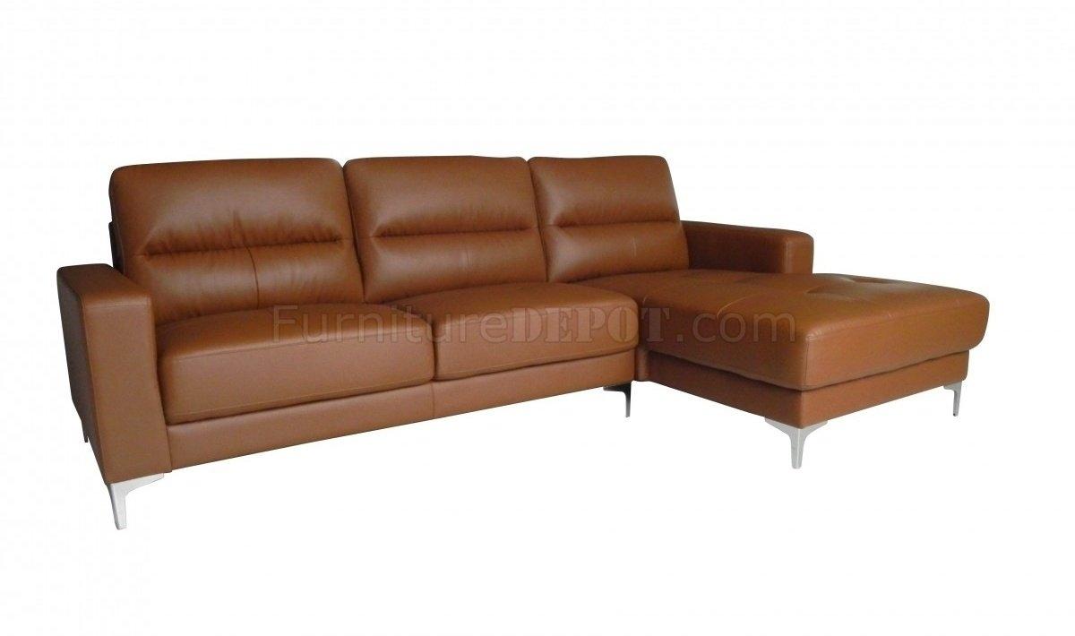 Memphis Sectional Sofa In Tan Bonded Leatherwhiteline inside Memphis Sectional Sofas (Image 6 of 10)