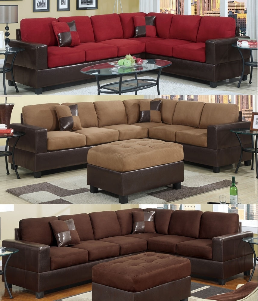 Microfiber Sectional: Sofas, Loveseats & Chaises | Ebay Intended For Sectional Sofas At Ebay (View 5 of 10)