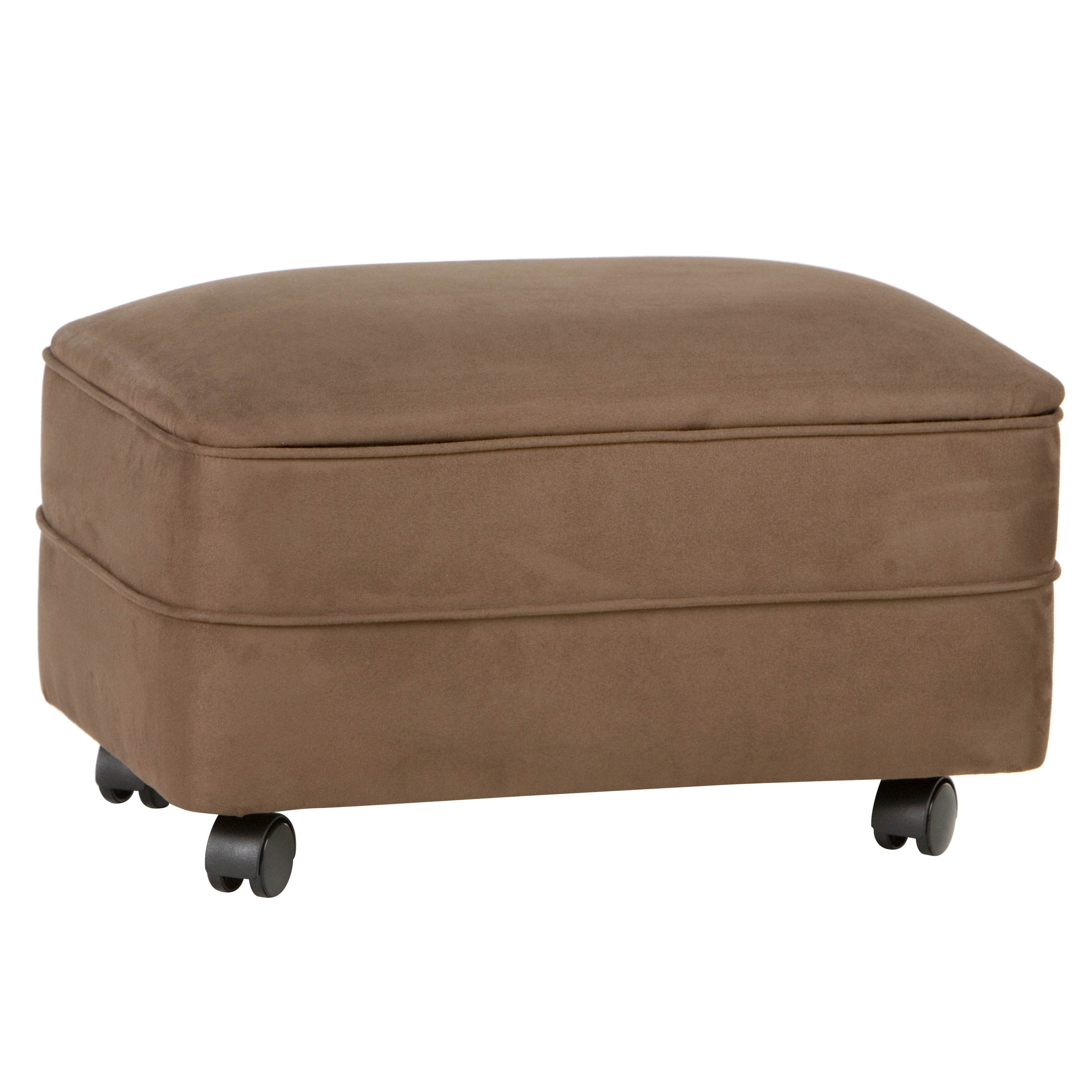 Microfiber Storage Ottoman, Footstools And Ottomans With Wheels with Ottomans With Wheels (Image 9 of 15)