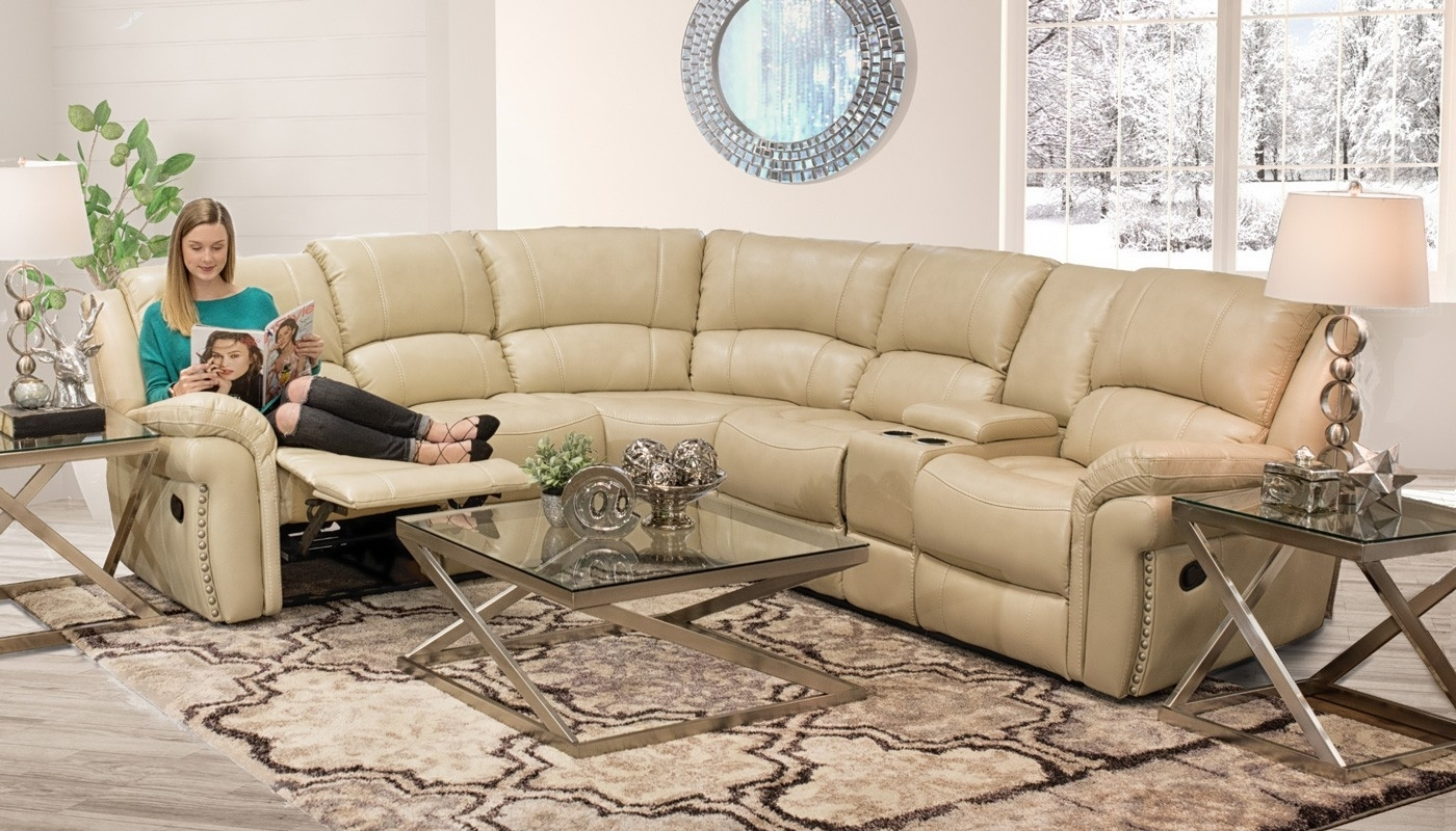 Milton Ivory Sectional - Home Zone Furniture | Living Room regarding Home Zone Sectional Sofas (Image 8 of 10)