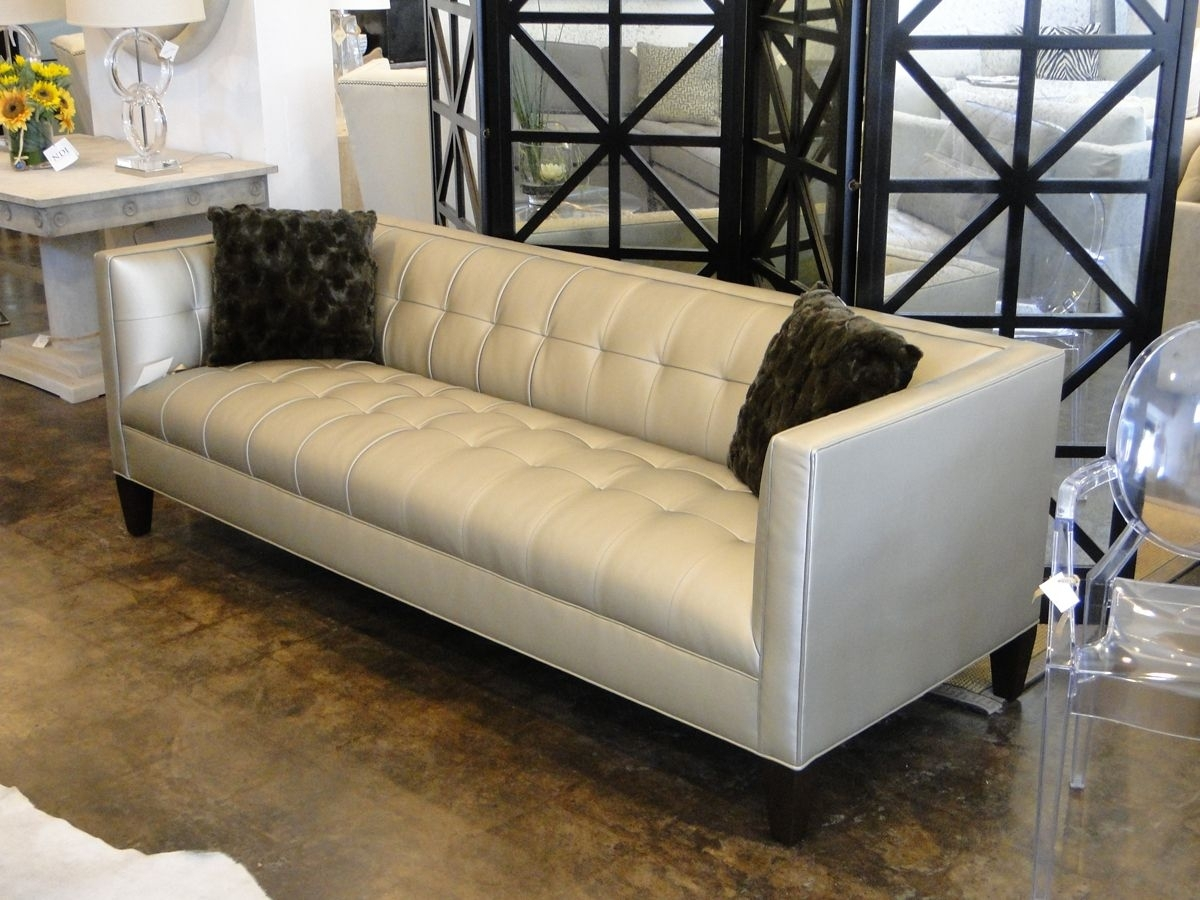 "Mitchell Gold 90"" Kennedy Sofa In Alloy - Pewter. Boom! 