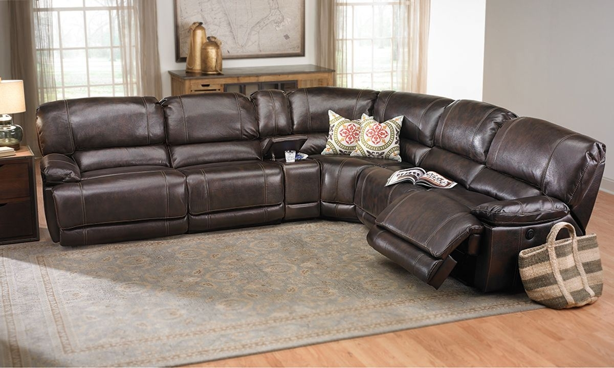 Mocha Lay Flat Power Reclining Sectional Sofa | The Dump – America's Within Sectional Sofas At The Dump (View 10 of 15)