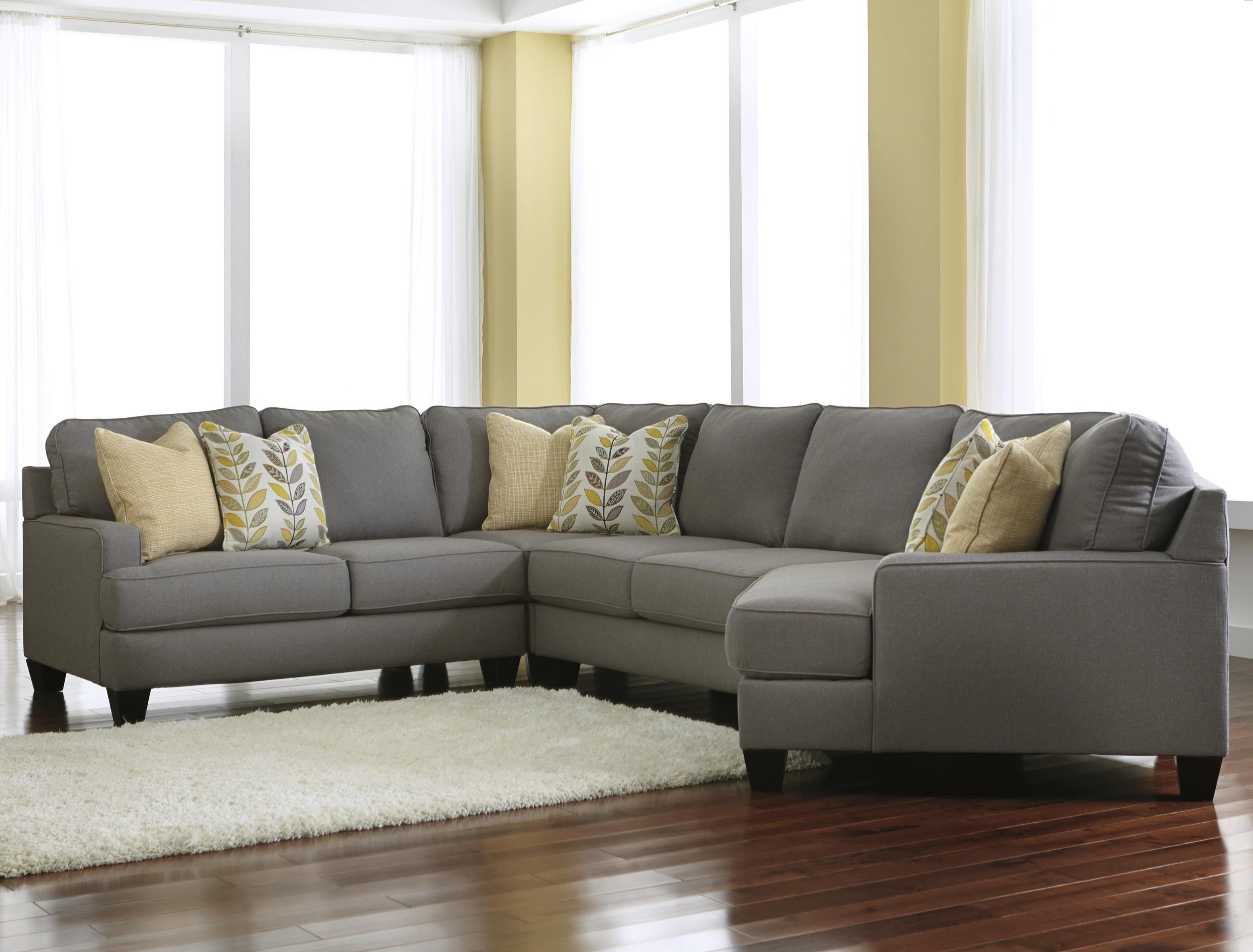 Modern 4 Piece Sectional Sofa With Right Cuddler & Reversible Seat Throughout Harrisburg Pa Sectional Sofas (View 3 of 10)
