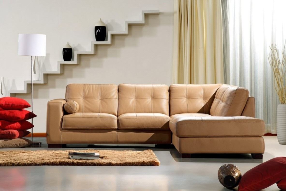 Modern Home And Office Furniture Store Divani Casa 306Ang Camel intended for Camel Sectional Sofas (Image 8 of 10)