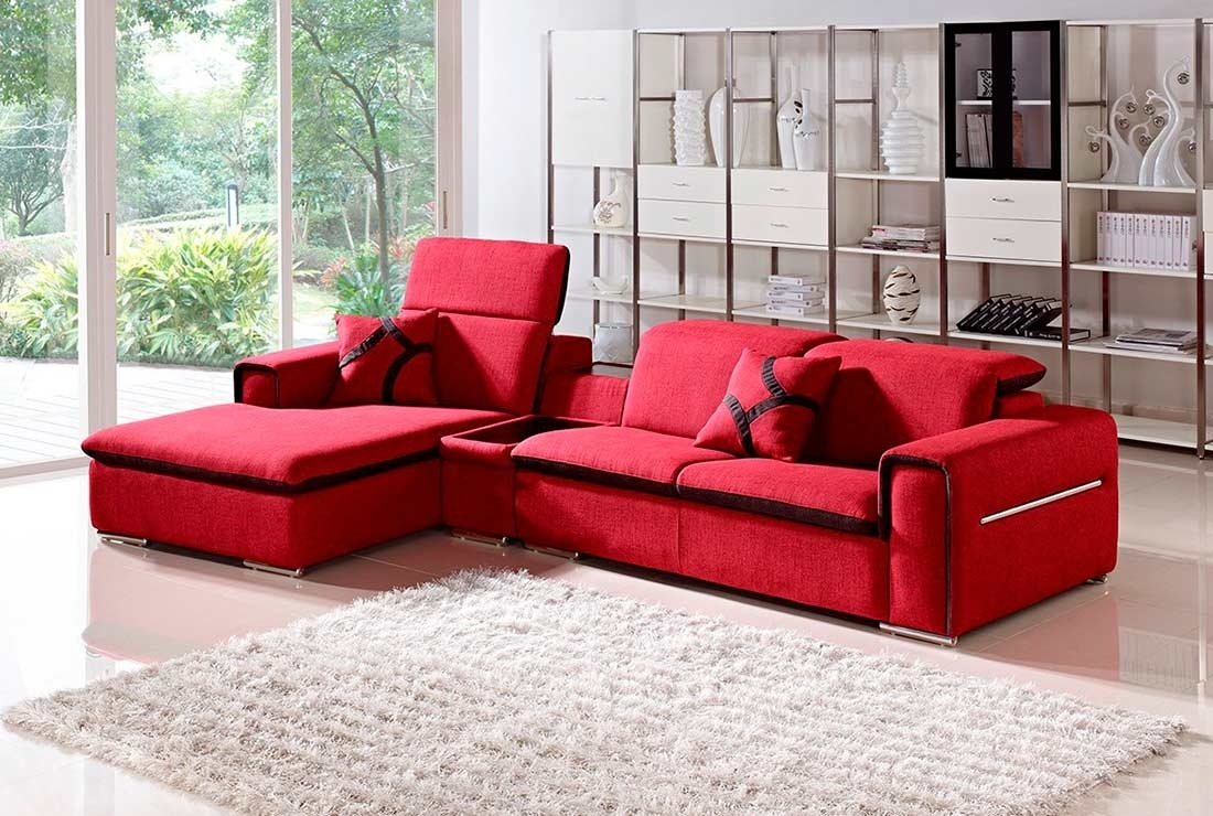 Modern Red Fabric Sectional Sofa Vg201 | Fabric Sectional Sofas inside Red Sectional Sofas (Image 5 of 10)
