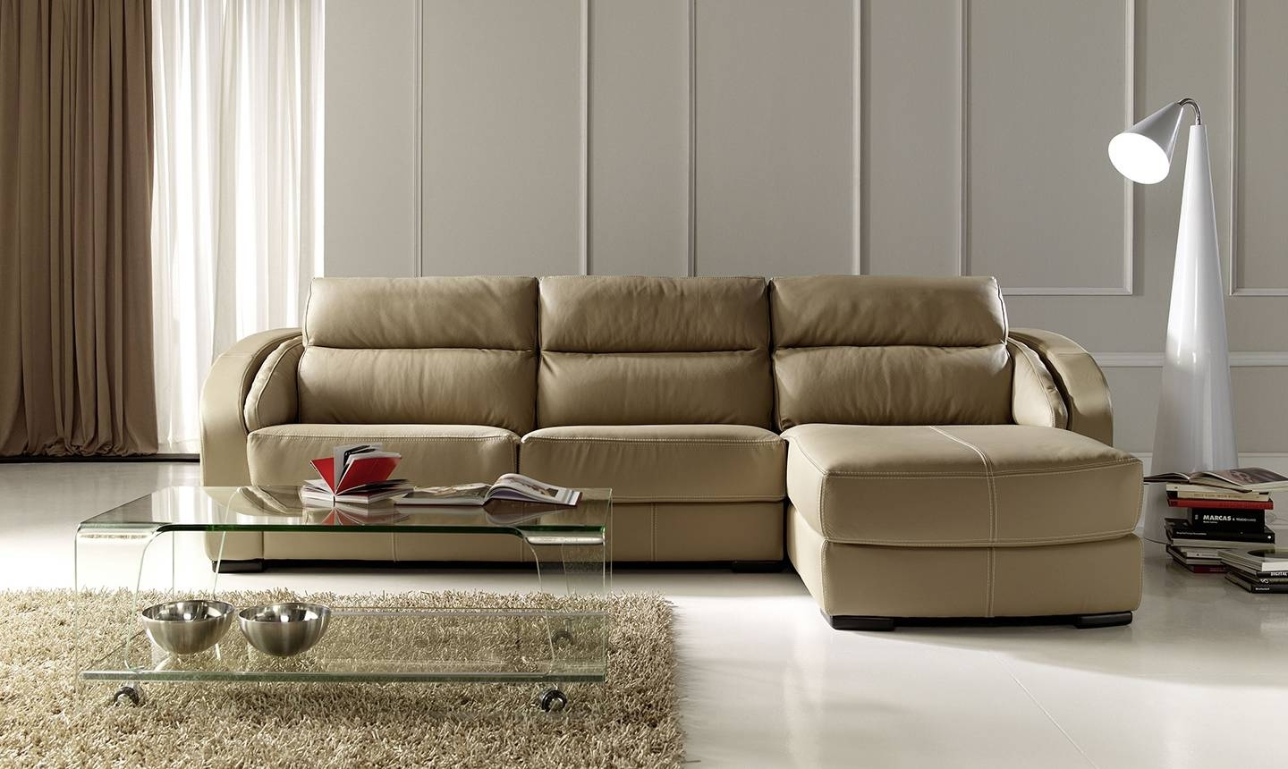 Modern Style Apartment Size Leather Sectional Sofa And Exquisite With Virginia Sectional Sofas (View 5 of 10)