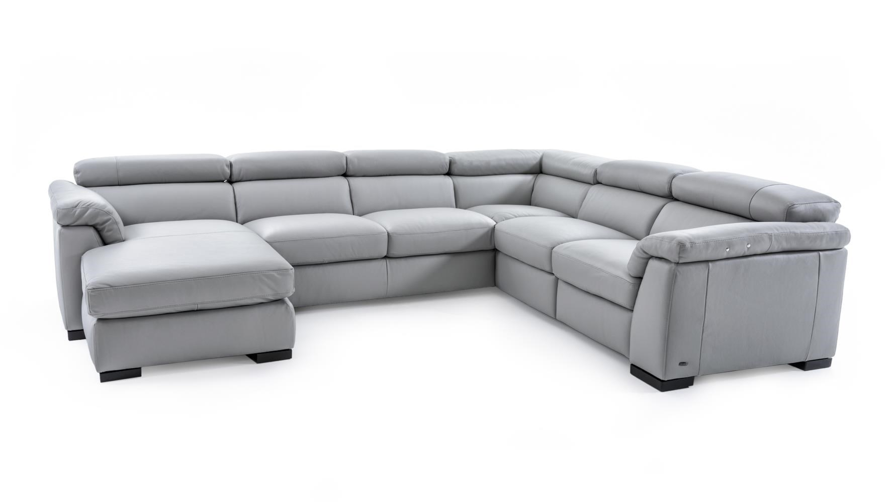 Natuzzi Editions B634 B634 Sect 1 Gray Contemporary Leather With Regard To Natuzzi Sectional Sofas (Photo 5 of 10)