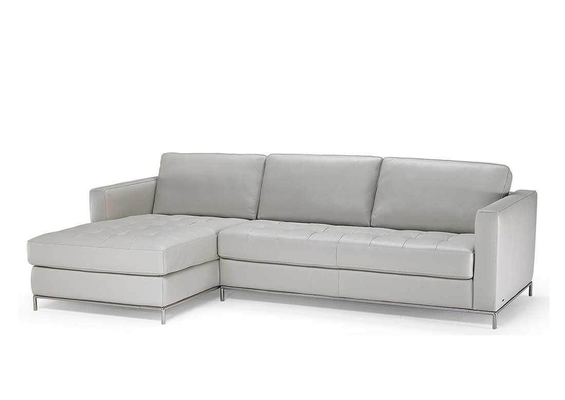 Natuzzi Grey Top Grain Leather Sectional Sofa B805 | Natuzzi Sofa With Natuzzi Sectional Sofas (Photo 3 of 10)