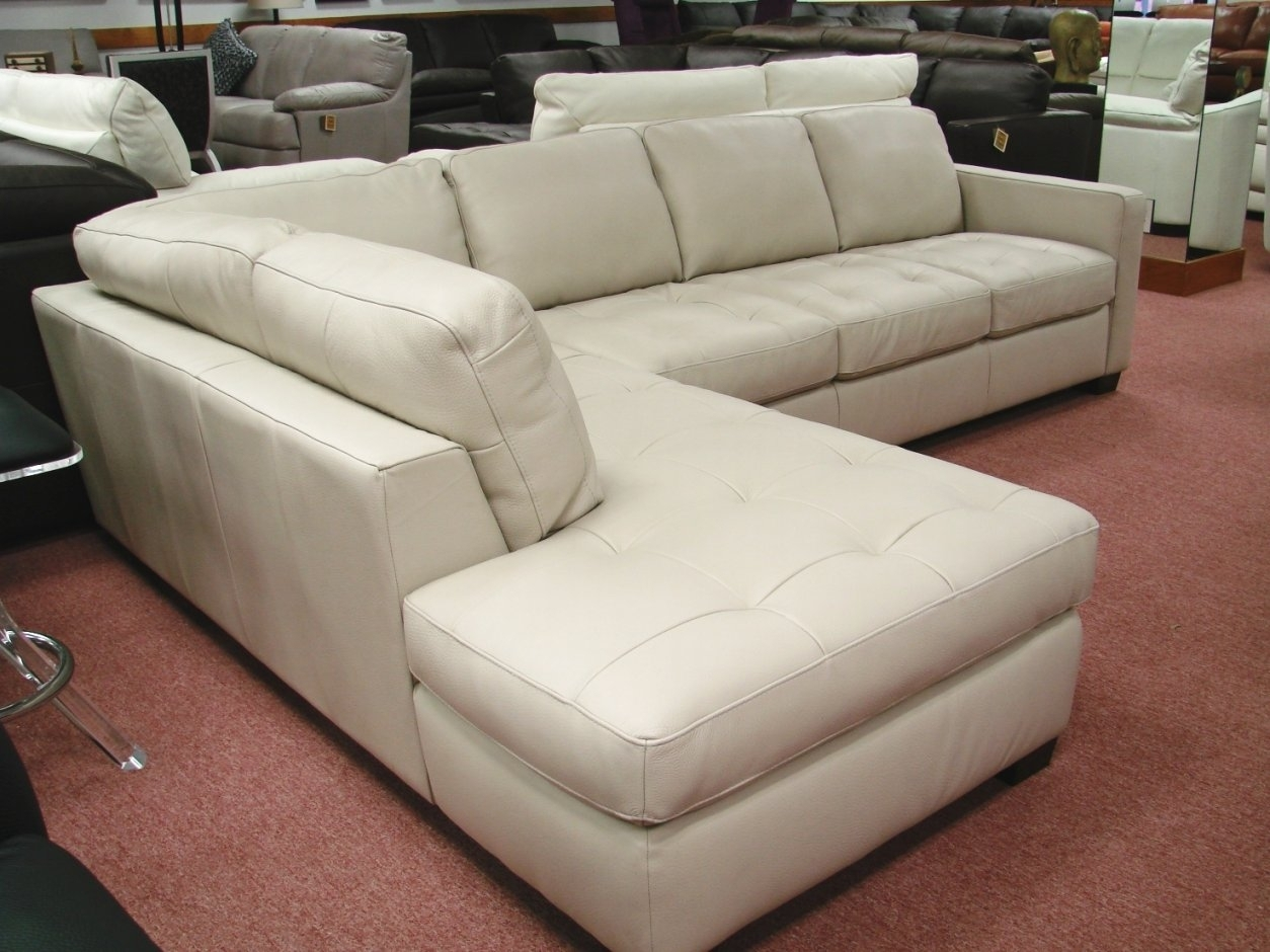 Natuzzi White Leather Sectional Sofa With Natuzzi Sectional Sofas (View 2 of 10)