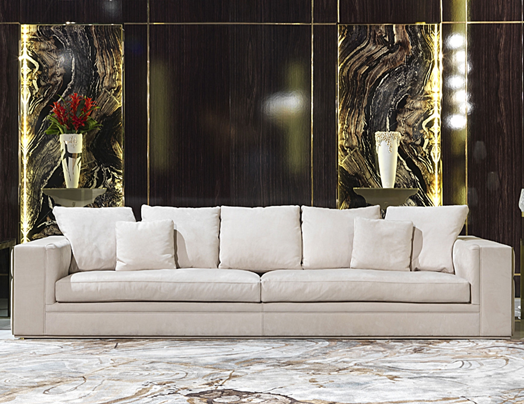 Nella Vetrina Visionnaire Ipe Cavalli Babylon Luxury Italian Sofa with Luxury Sofas (Image 7 of 10)