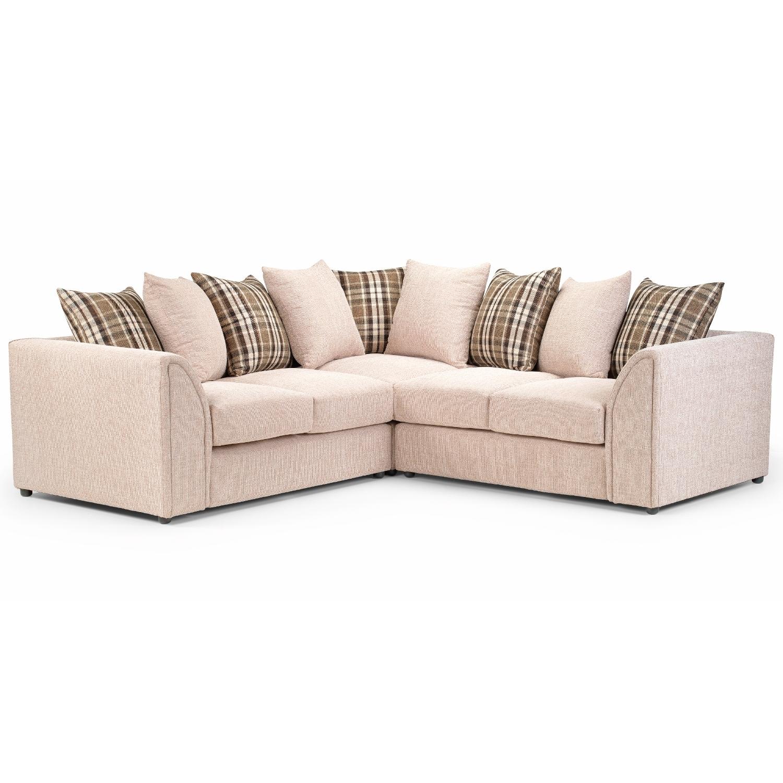 Nevada Large Fabric Corner Sofa – Next Day Delivery Nevada Large Intended For Fabric Corner Sofas (Photo 2 of 10)