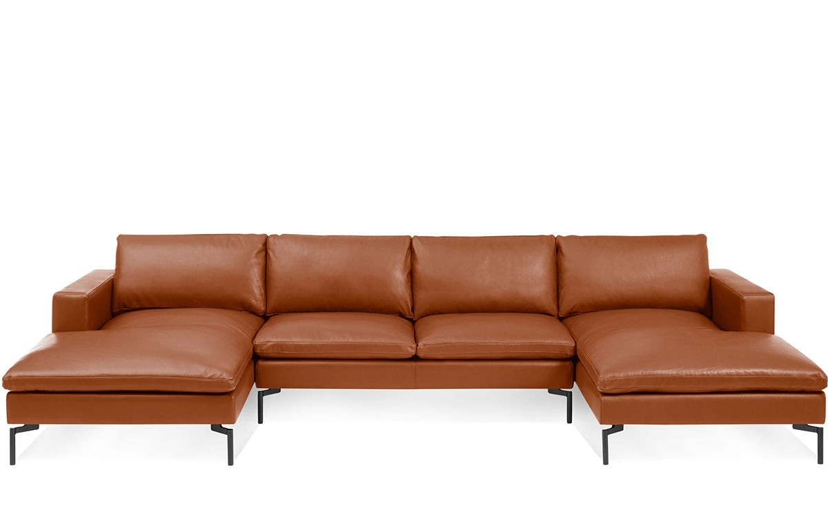 New Standard U Shaped Leather Sectional Sofa - Hivemodern throughout U Shaped Leather Sectional Sofas (Image 8 of 10)