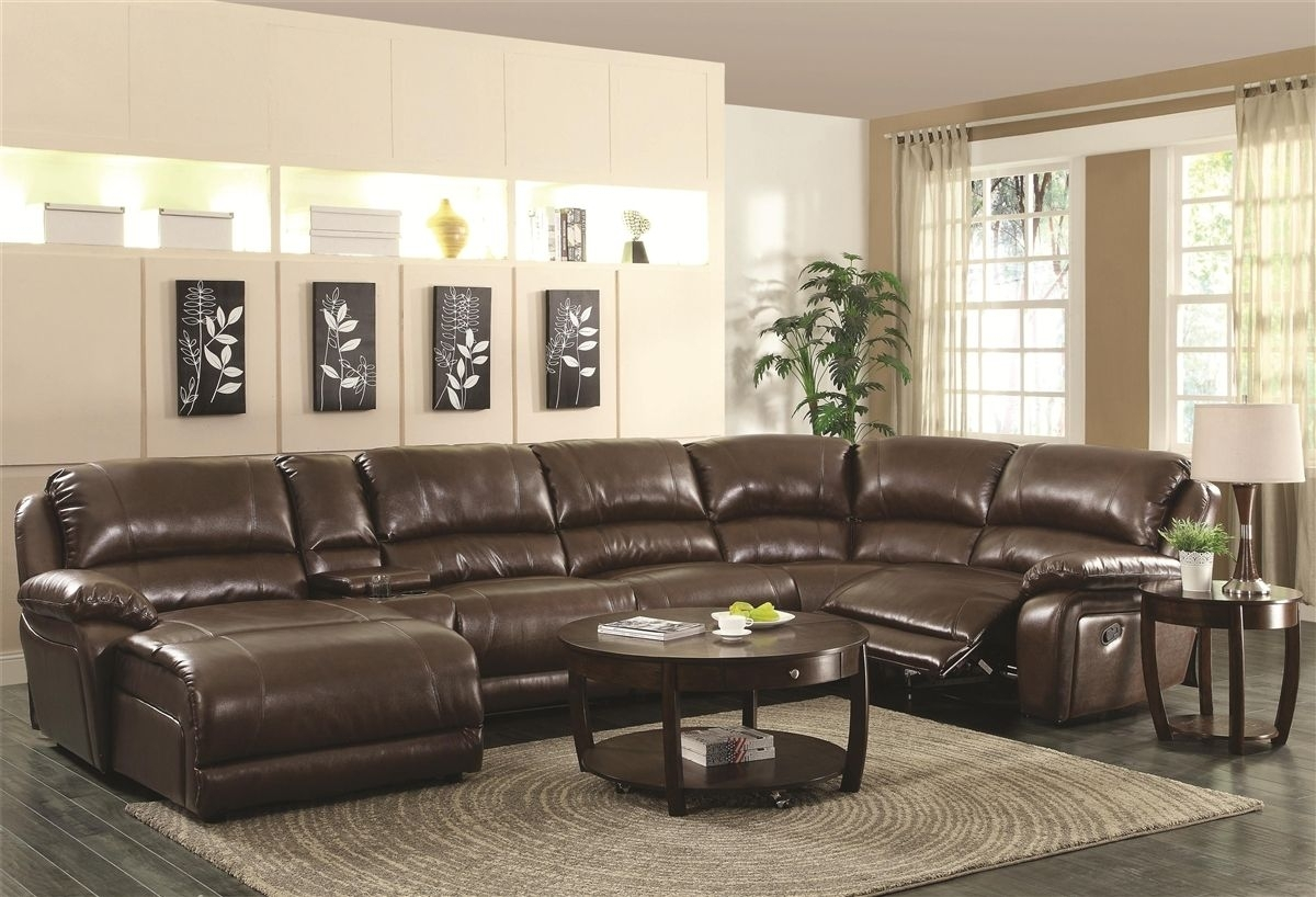 Nice Leather Sectional Sofas With Recliners , Epic Leather Sectional Intended For Sectional Sofas With Recliners Leather (View 7 of 10)