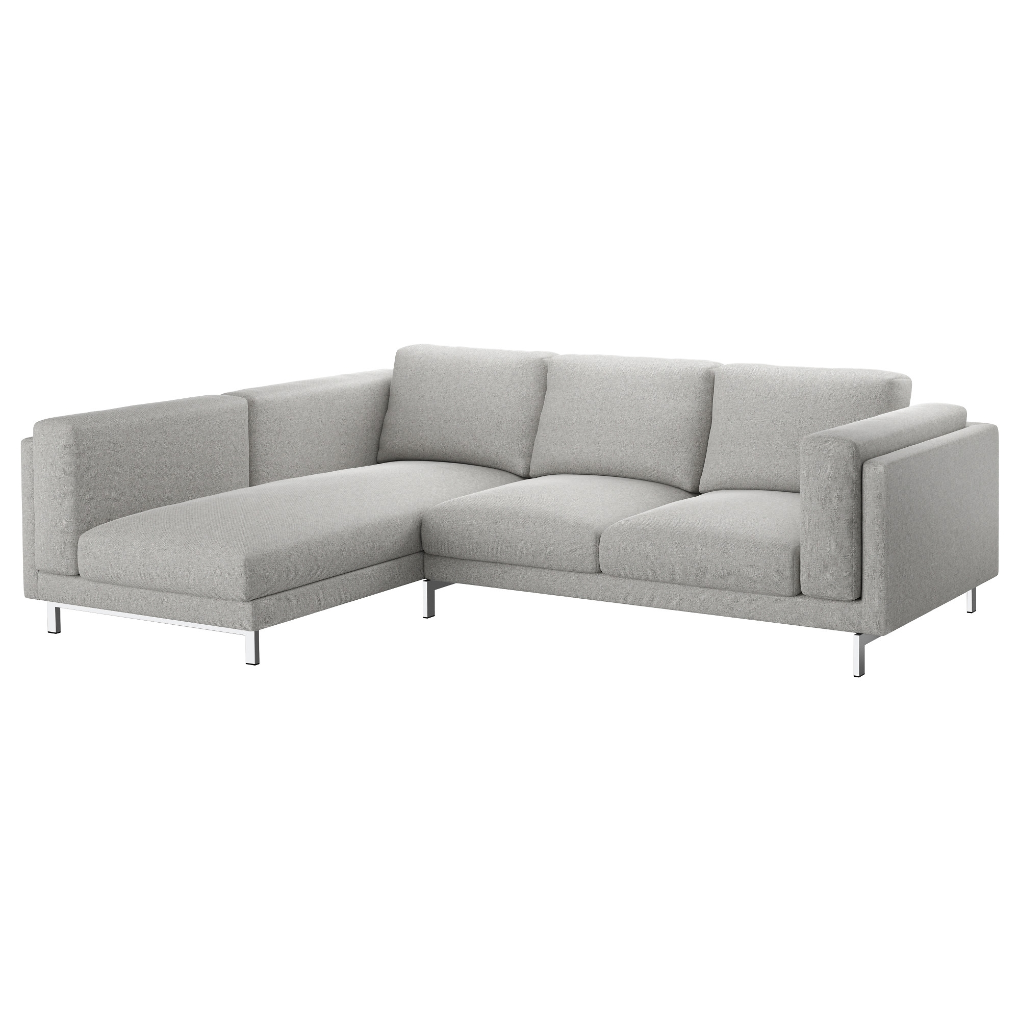 Nockeby Sofa - With Chaise, Left/tallmyra White/black, Chrome Plated inside Sectional Sofas At Ikea (Image 10 of 15)